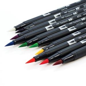 Tombow Dual Brush 10'lu Set Bright Palette - Thumbnail