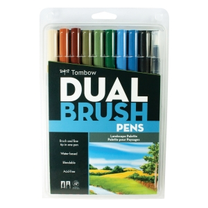 Tombow - Tombow Dual Brush 10'lu Set Landscape