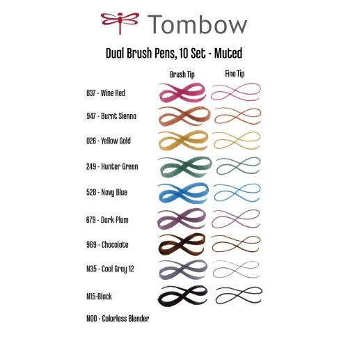 Tombow Dual Brush 10'lu Set Muted Palette