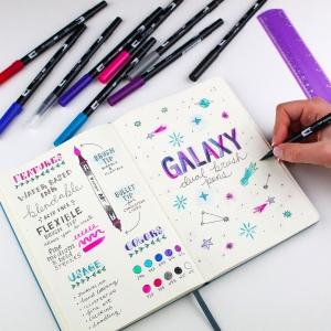 Tombow Dual Brush 10'lu Fırça Uçlu Galaxy Kalem Seti - Thumbnail