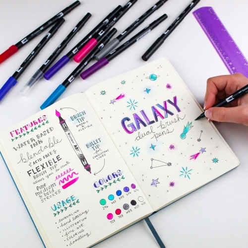 Tombow Dual Brush 10'lu Fırça Uçlu Galaxy Kalem Seti