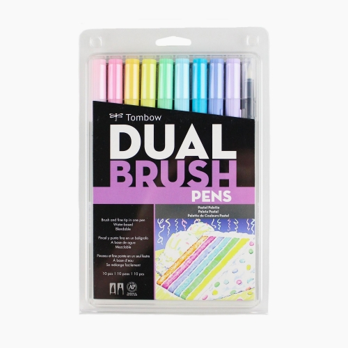 Tombow Dual Brush 10'lu Fırça Uçlu Pastel Kalem Seti 1877