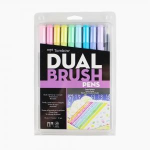 Tombow - Tombow Dual Brush 10′lu Fırça Uçlu Pastel Kalem Seti