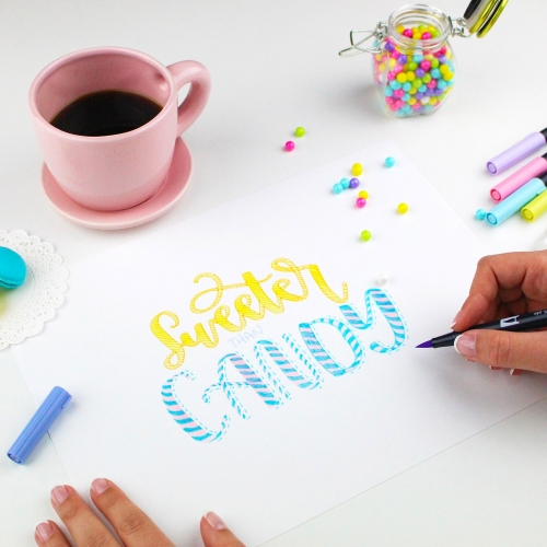 Tombow Dual Brush 10′lu Fırça Uçlu Pastel Kalem Seti