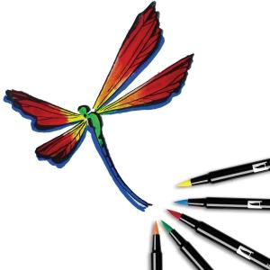 Tombow Dual Brush 6'lı Set Primary Palette - Thumbnail