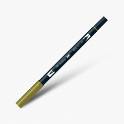 Tombow - Tombow Dual Brush Pen 076 Green Ochre