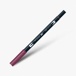 Tombow Dual Brush Pen 757 Port Red - Thumbnail