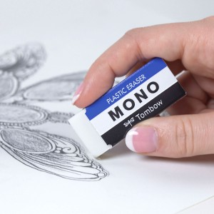 Tombow - Tombow Mono Beyaz Medium Silgi PE-04A (1)