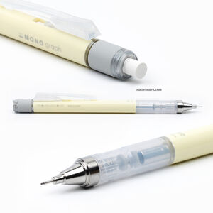 Tombow - Tombow Mono Graph 2020 Seri 0.5 mm Mekanik Kurşun Kalem Pastel Cream Yellow DPA-136B 1758 (1)