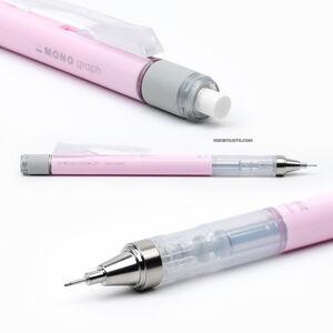 Tombow - Tombow Mono Graph 2020 Seri 0.5 mm Mekanik Kurşun Kalem Pastel Sakura Pink DPA-136E 1789 (1)