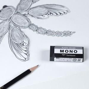 Tombow - Tombow Mono Siyah Medium Silgi PE-04AB (1)