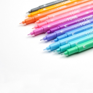 Tombow TwinTone 12'li Pastel Renkler Çift Uçlu Markör Seti 9188 - Thumbnail