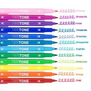 Tombow TwinTone 12'li Rainbow Renkler Çift Uçlu Markör Seti 5266 - Thumbnail