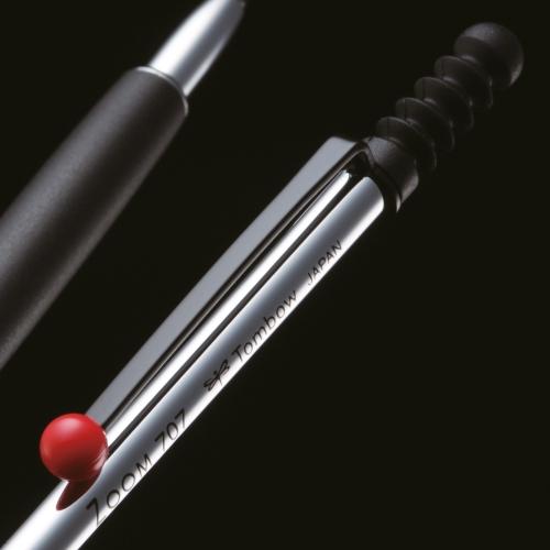 Tombow Zoom 707 de Luxe 0.5 mm Mekanik Kurşun Kalem Krom/Siyah SH-ZSDS 2577