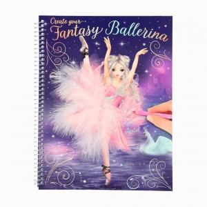 Top Model - Top Model Fantasy Ballerina Stickerlı Boyama Kitabı 0410195_A 7631