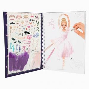 Top Model - Top Model Fantasy Ballerina Stickerlı Boyama Kitabı 0410195_A 7631 (1)