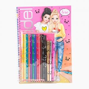Top Model - TOP MODEL Sticklerlı Boyama Kitabı 048760_A 0765