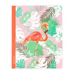 Keskin Color - Turuncu Flamingo Çizgili Defter 20x25 cm