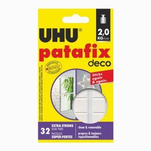 UHU - UHU Patafix Deco 32 Ad. Ekstra Güçlü Beyaz Hamur Yapıştırıcı 40660 6603