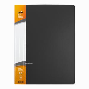 Umix - Umix A4 10 Poşetli Basic Sunum Dosyası Gri U1141P 4198