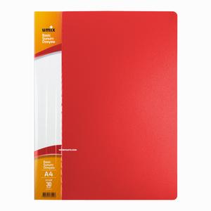 Umix - Umix A4 30 Poşetli Basic Sunum Dosyası Kırmızı U1143P 5240