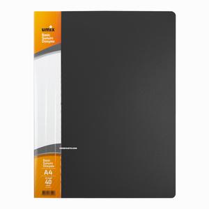 Umix - Umix A4 40 Poşetli Basic Sunum Dosyası Gri U1144P 4228