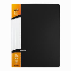 Umix - Umix A4 40 Poşetli Basic Sunum Dosyası Siyah U1144P 5264