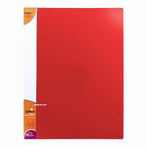 Umix A4 60 Poşetli Basic Sunum Dosyası Kırmızı U1145P 5301
