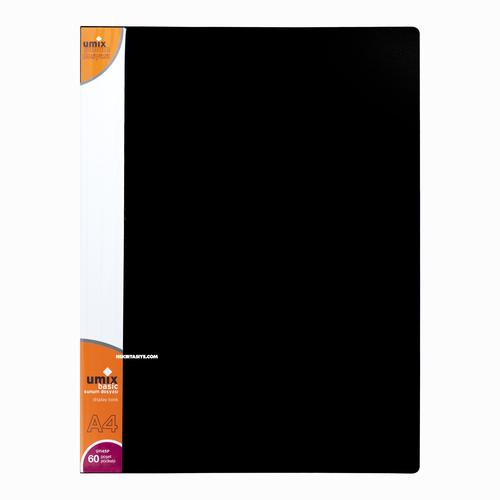 Umix A4 60 Poşetli Basic Sunum Dosyası Siyah U1145P 5295
