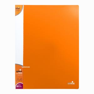 Umix - Umix A4 60 Poşetli Basic Sunum Dosyası Turuncu U1145P 7008