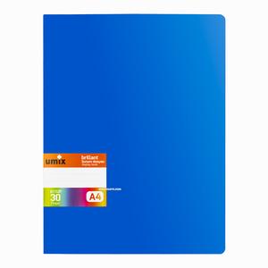 Umix - Umix Brilliant A4 30 Poşetli Sunum Dosyası Mavi U1152P 5276