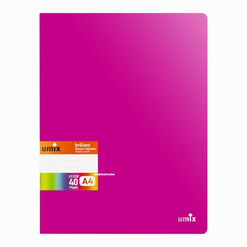 Umix Brilliant A4 40 Poşetli Sunum Dosyası Pembe U1153P 6971