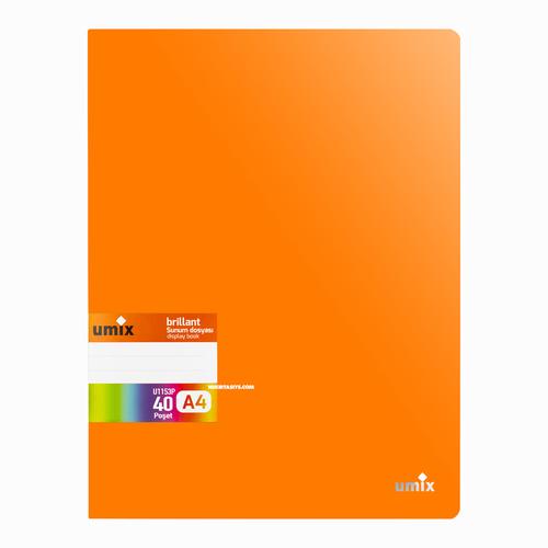 Umix Brilliant A4 40 Poşetli Sunum Dosyası Turuncu U1153P 6964