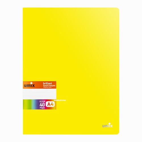 Umix Brilliant A4 60 Poşetli Sunum Dosyası Sarı U1154P 7022