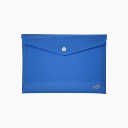 Umix Çıtçıtlı A4 Zarf Dosya Mavi 8054