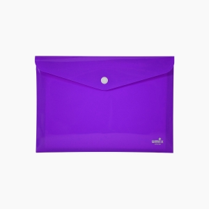 Umix - Umix Çıtçıtlı A4 Zarf Dosya Mor 8047