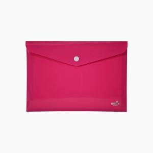 Umix - Umix Çıtçıtlı A4 Zarf Dosya Pembe 8078