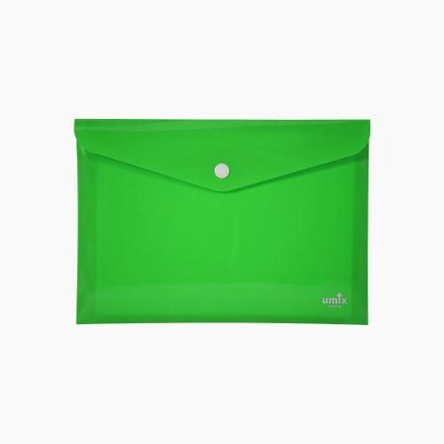 Umix Çıtçıtlı A4 Zarf Dosya Yeşil 8061