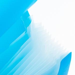 Umix - Umix Neon Körüklü Evrak Dosyası A4 Mavi U1126P-MA 9135 (1)