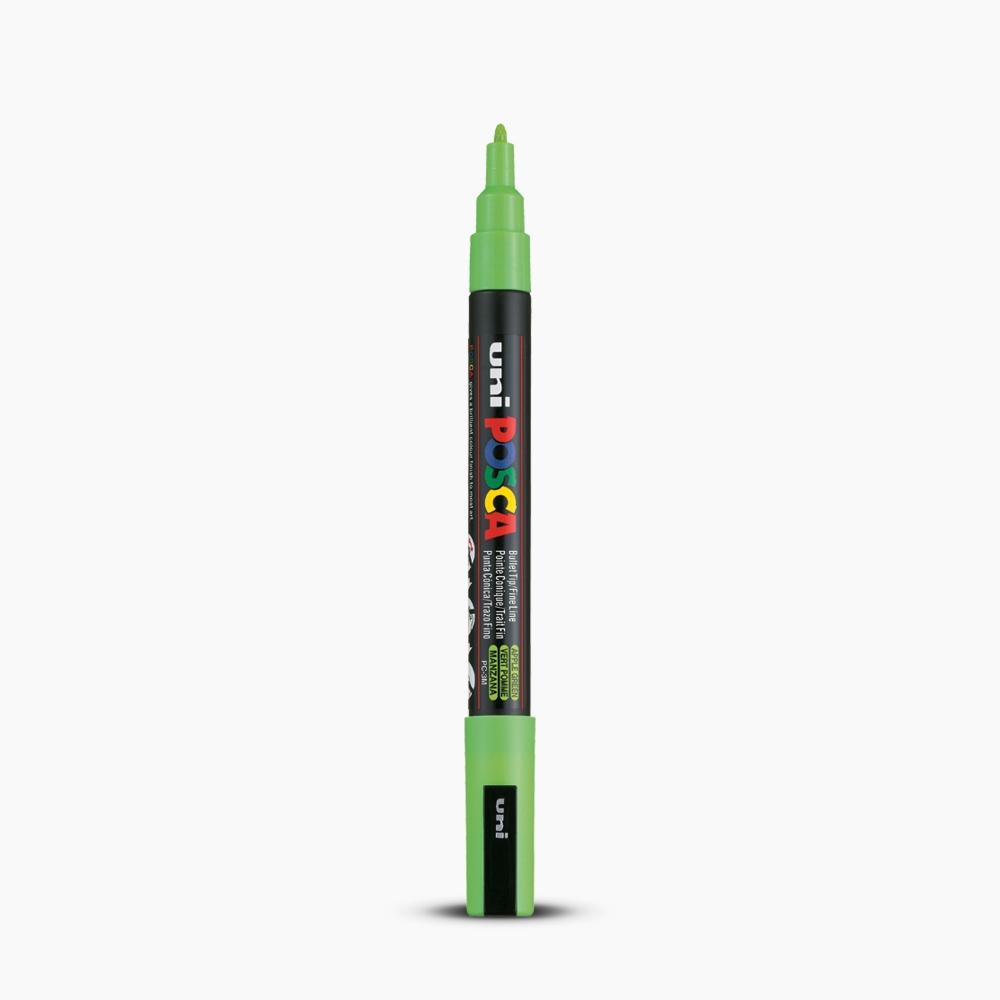 Uni Posca 09 13mm Boyama Markörü Pc 3m Elma Yeşili 6808 Marker