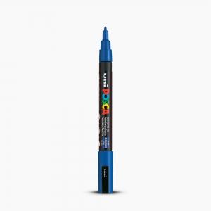 Uni - Uni POSCA 0.9-1.3mm Boyama Markörü PC-3M Mavi 5783