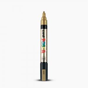 Uni - Uni POSCA 1.8-2.5mm Boyama Markörü PC-5M Gold 6261
