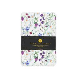 Victoria's Journals - Victoria's Journals Felxy Bahar Serisi 9x14 cm Çizgili Planner Beyaz-Mor 1227