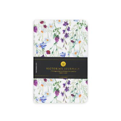 Victoria's Journals Felxy Bahar Serisi 9x14 cm Çizgili Planner Beyaz-Mor 1227