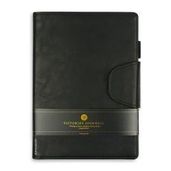 Victoria's Journals - Victoria's Journals Executive Siyah 14x20 cm Çizgili Defter