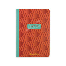 Victoria's Journals - Victoria's Journal Turuncu Desenli Sarta Notes 14X20cm 48 Yaprak Çizgili Defter