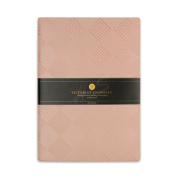 Victoria's Journals - Victoria's Journals Foil 14x20 cm Çizgili Defter Pembe Kareler