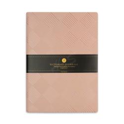 Victorias Journals - Victoria's Journals Foil 14x20 cm Çizgili Defter Pembe Kareler