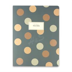 Victorias Journals - Victoria's Journals Trendy Dots Yeşil 19x25 cm Çizgili Defter 1226