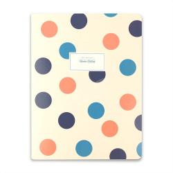 Victoria's Journals - Victoria's Journals Trendy Dots Krem 19x25 cm Çizgili Defter 1226